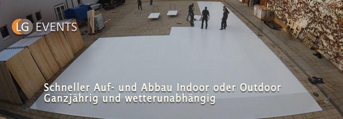 LG EVENTS: Mobile Kunst-Eisbahnen für jeden Ort, jeden Anlass, jedes Wetter – egal wo, egal wann!